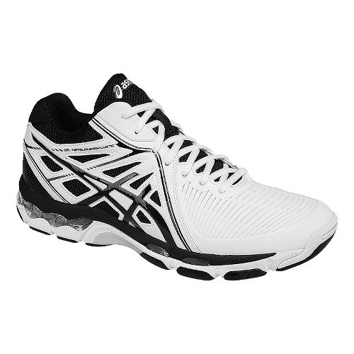Mens ASICS GEL-Netburner Ballistic MT Court Shoe - White/Black 7.5