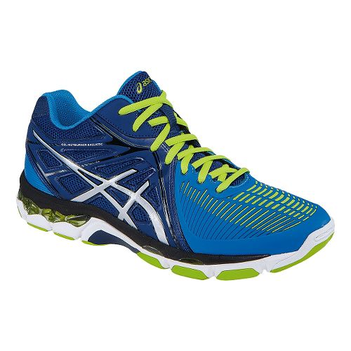 Mens ASICS GEL-Netburner Ballistic MT Court Shoe - Navy/Electric Blue 7.5