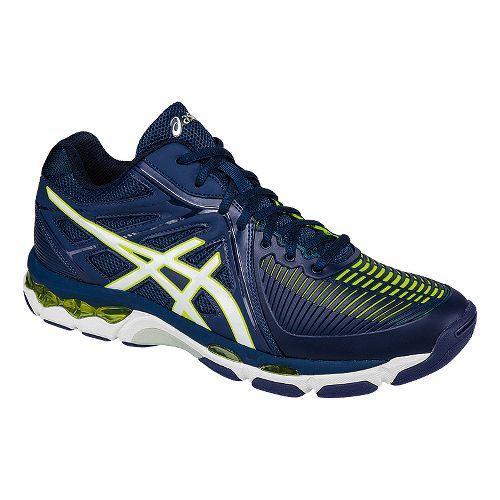 Mens ASICS GEL-Netburner Ballistic MT Court Shoe - Navy/White 8.5
