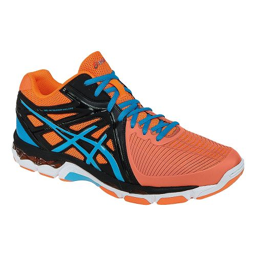 Mens ASICS GEL-Netburner Ballistic MT Court Shoe - Orange/Midnight 8