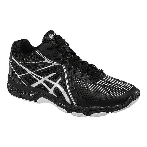 Womens ASICS GEL-Netburner Ballistic MT Court Shoe - Black/Silver 11.5