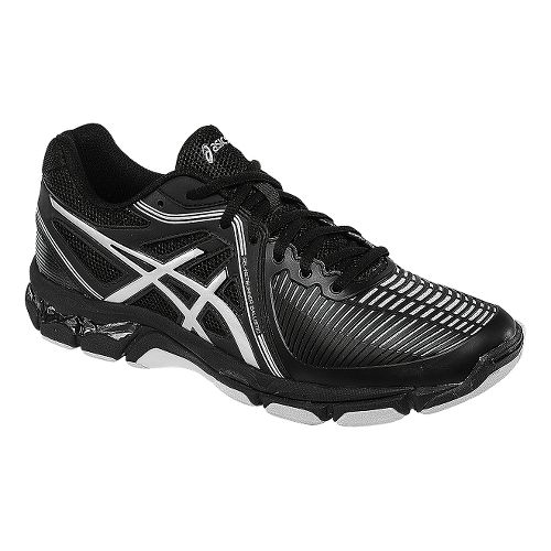 Womens ASICS GEL-Netburner Ballistic Court Shoe - Black/Silver 11.5