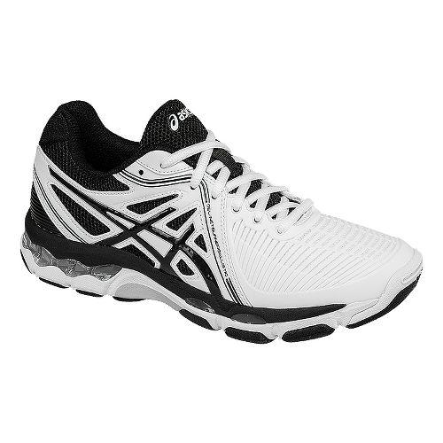 Womens ASICS GEL-Netburner Ballistic Court Shoe - White/Black 10.5