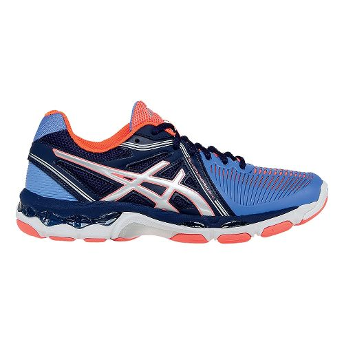 Womens ASICS GEL-Netburner Ballistic Court Shoe - Columbia Blue/Silver 8
