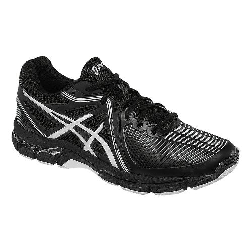 Mens ASICS GEL-Netburner Ballistic Court Shoe - Black/Silver 12.5