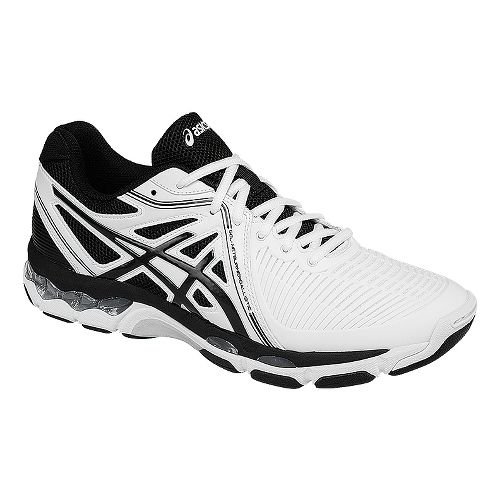 Mens ASICS GEL-Netburner Ballistic Court Shoe - White/Black 10.5