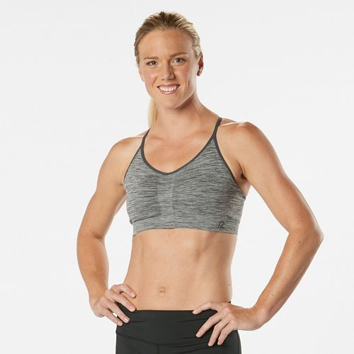 Womens Road Runner Sports Undercover Seamless Cami Sports Bra - Charcoal/Dove Grey L