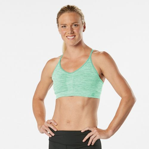 Womens Road Runner Sports Undercover Seamless Cami Sports Bra - Sea Glass M