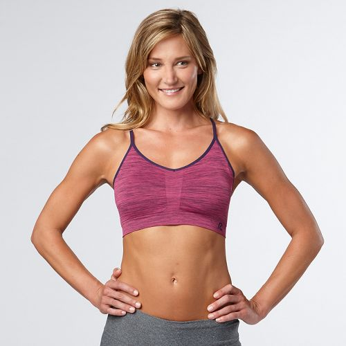 Womens Road Runner Sports Undercover Seamless Cami Sports Bra - Let's Jam/Ruby M