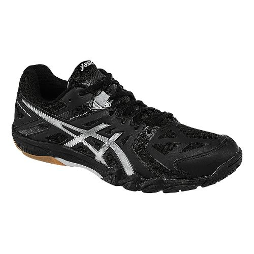 Womens ASICS GEL-Court Control Court Shoe - Black/Silver 6.5