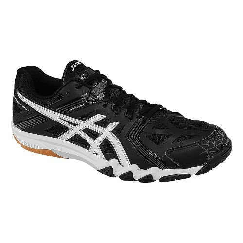 Mens ASICS GEL-Court Control Court Shoe - Black/White 7.5