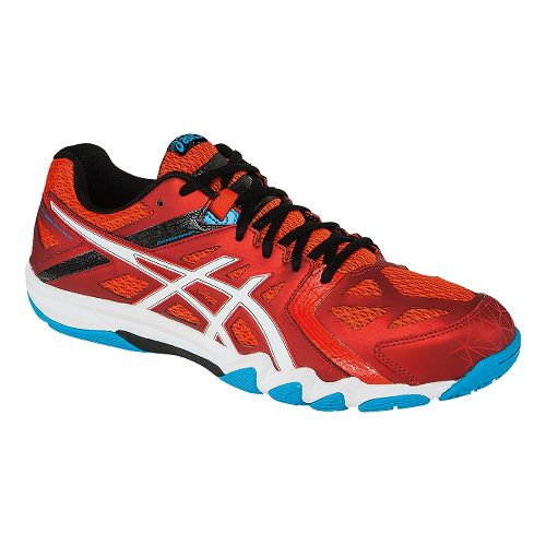 Mens ASICS GEL-Court Control Court Shoe - Cherry Tomato/White 9