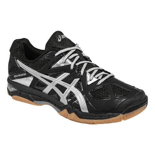 Womens ASICS GEL-Tactic Court Shoe - Black/Silver 7