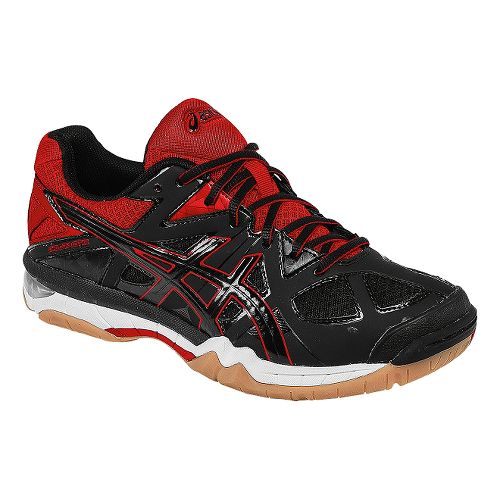 Womens ASICS GEL-Tactic Court Shoe - Black/Fiery Red 6.5