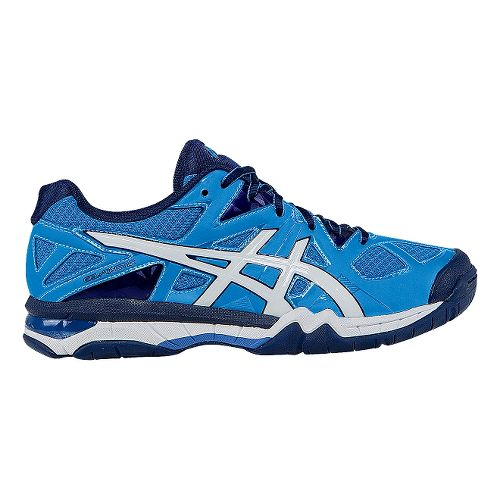 Womens ASICS GEL-Tactic Court Shoe - Powder Blue/White 10.5