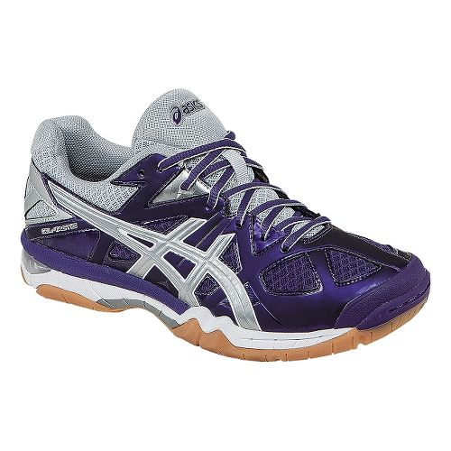 Womens ASICS GEL-Tactic Court Shoe - Purple/Silver 7.5