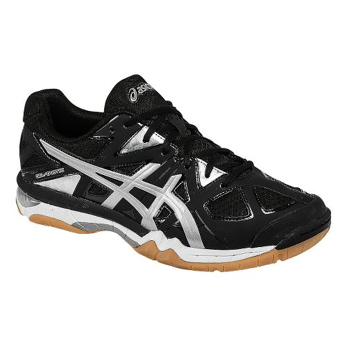 Mens ASICS GEL-Tactic Court Shoe - Black/Silver 6.5