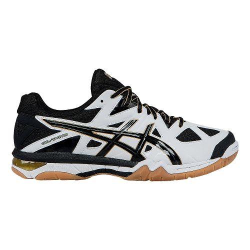 Mens ASICS GEL-Tactic Court Shoe - White/Black 7