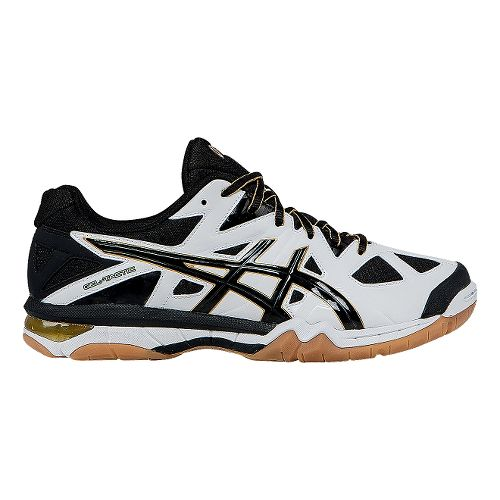 Mens ASICS GEL-Tactic Court Shoe - White/Black 8.5