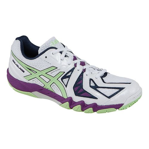 Womens ASICS GEL-Blade 5 Court Shoe - White/Pistachio 10