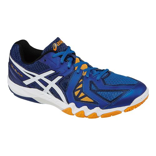 Mens ASICS GEL-Blade 5 Court Shoe - Electric Blue/White 7