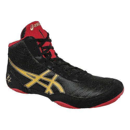 Mens ASICS JB Elite V2.0 Wrestling Shoe - Black/Oly Gold 10.5