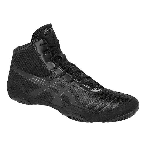 Mens ASICS JB Elite V2.0 Wrestling Shoe - Black/Onyx 11.5