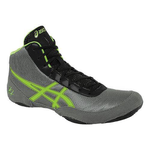 Mens ASICS JB Elite V2.0 Wrestling Shoe - Granite Green/Black 7.5