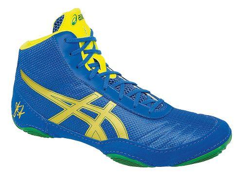 Mens ASICS JB Elite V2.0 Wrestling Shoe - Blue/Yellow 15