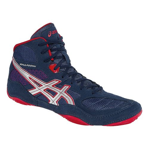 Mens ASICS Snapdown Wrestling Shoe - Navy/Red 13