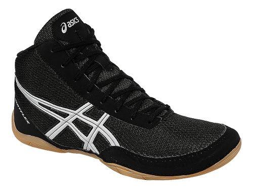 Mens ASICS Matflex 5 Wrestling Shoe - Black/Silver 12.5