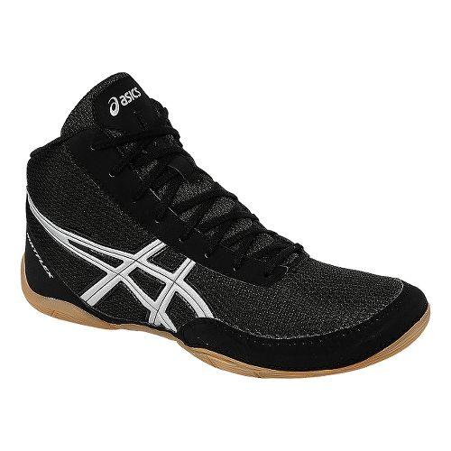 Mens ASICS Matflex 5 Wrestling Shoe - Black/Silver 11
