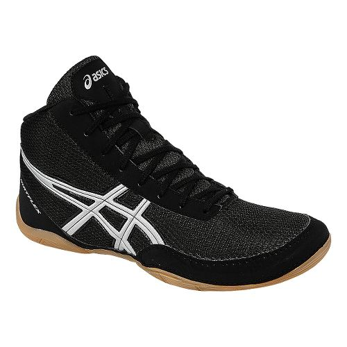 Mens ASICS Matflex 5 Wrestling Shoe - Black/Silver 9.5