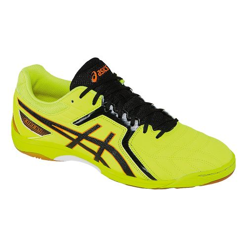 Mens ASICS Copero S 2 Track and Field Shoe - Flash Yellow/Onyx 4