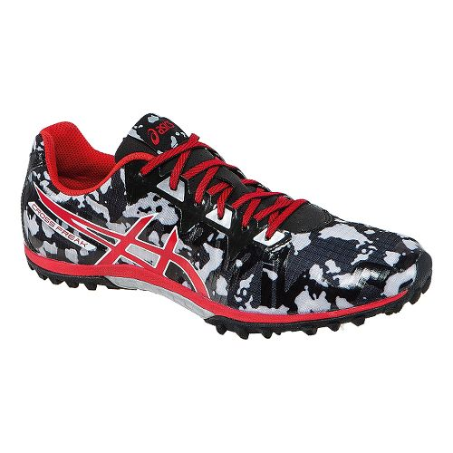 Mens ASICS Cross Freak 2 Track and Field Shoe - Black/Fiery Red 5