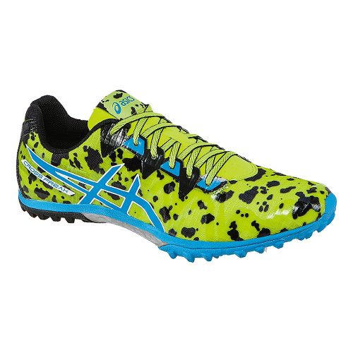 Mens ASICS Cross Freak 2 Track and Field Shoe - Lime/Turquoise 7
