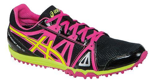 Womens ASICS Hyper-Rocketgirl XC Track and Field Shoe - Black/Hot Pink 11