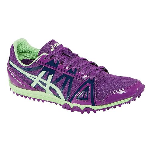 Womens ASICS Hyper-Rocketgirl XC Track and Field Shoe - Grape/Pistachio 12