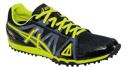 Mens ASICS Hyper XC Track and Field Shoe - Black/Flash Yellow 7.5