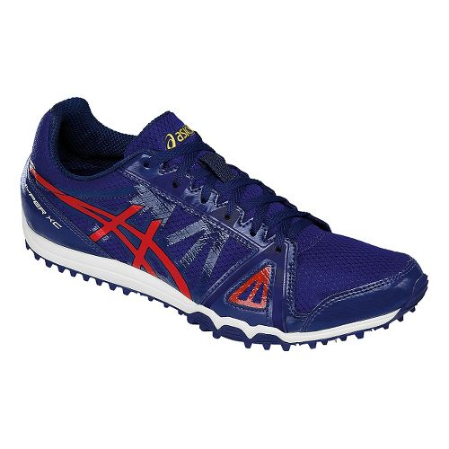 Mens ASICS Hyper XC Track and Field Shoe - Blue/Red 15