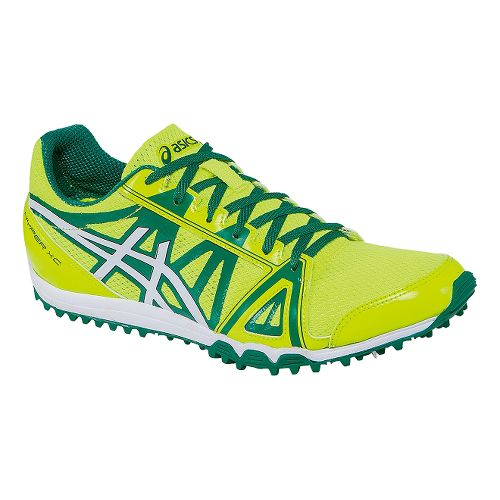 Mens ASICS Hyper XC Track and Field Shoe - Flash Yellow/Green 8.5