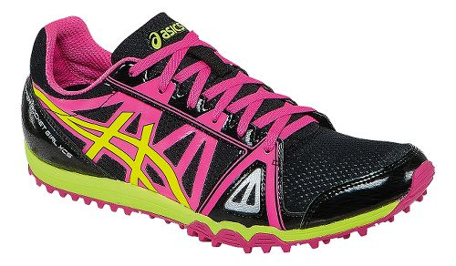 Womens ASICS Hyper-Rocketgirl XCS Track and Field Shoe - Black/Hot Pink 11