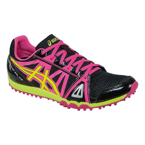 Womens ASICS Hyper-Rocketgirl XCS Track and Field Shoe - Black/Hot Pink 5.5