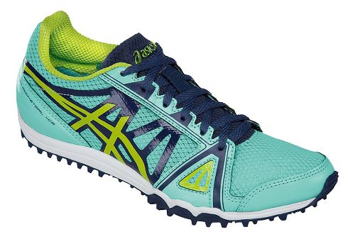 Womens ASICS Hyper-Rocketgirl XCS Track and Field Shoe - Blue/Neon Lime 10.5