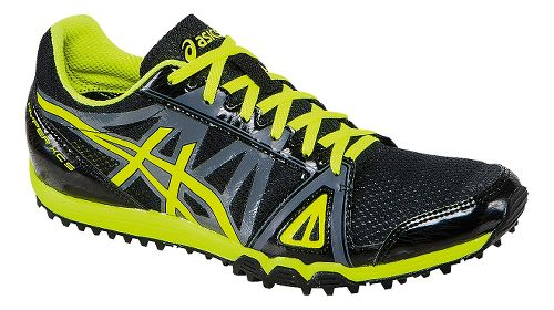 Mens ASICS Hyper XCS Track and Field Shoe - Black/Flash Yellow 14