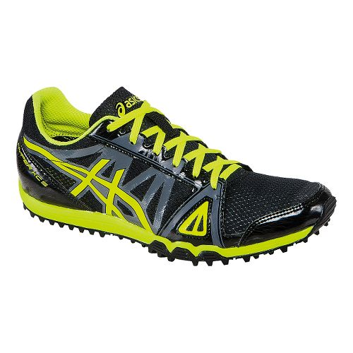 Mens ASICS Hyper XCS Track and Field Shoe - Black/Flash Yellow 12.5