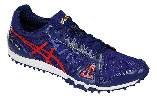Mens ASICS Hyper XCS Track and Field Shoe - Blue/Red 11