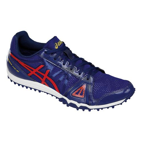 Mens ASICS Hyper XCS Track and Field Shoe - Blue/Red 10.5