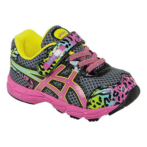 Kids ASICS Turbo TS Girls Running Shoe - Charcoal/Rainbow 7