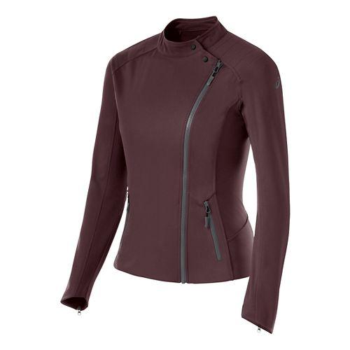Womens ASICS Lightweight Jackets - Rouge Noir S